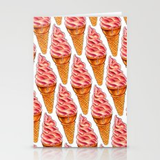 Strawberry Soft Serve Pa… Stationery Cards