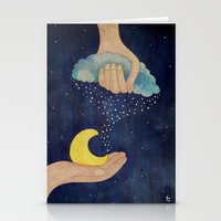 Handmade Night Stationery Cards