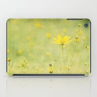 Green with buttercups iPad Case