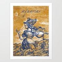 aquarius | wassermann Art Print