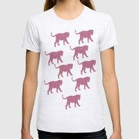 Pink Tigers Womens Fitted Tee Ash Grey SMALL