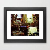 NEW YORK//TRAFFIC Framed Art Print