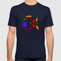 Fish Mens Fitted Tee Navy SMALL