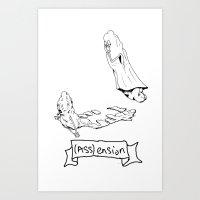 (Ass) Ension Art Print