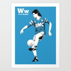 W is for Waddle Art Print