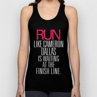 Run Like Cameron Dallas … Unisex Tank Top