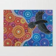 Raven Bringing In The Li… Canvas Print