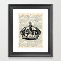 Vintage Crown  Framed Art Print