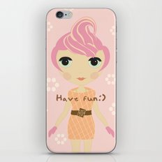 Ice-cream Girl iPhone & iPod Skin