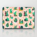 Terrariums - Cute little planters for succulents in repeat pattern by Andrea Lauren iPad Case