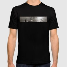 sunset in the bay Mens Fitted Tee Black SMALL