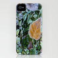 Frozen Leaves iPhone (4, 4s) Slim Case