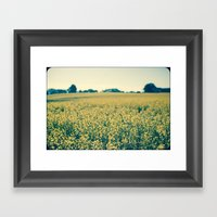 Beyond The Flowers  Framed Art Print