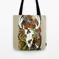 Tote Bag featuring Nature Thrives by Lynette Sherrard Illustration and Design