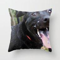 Dog Kisses!  Throw Pillow
