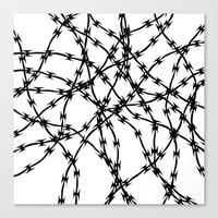 Trapped Black on White Canvas Print
