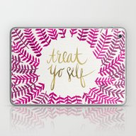 Treat Yo Self – Pink &… Laptop & iPad Skin