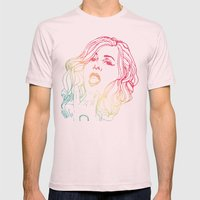 ANOUK Mens Fitted Tee Light Pink SMALL