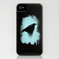 iPhone 4s & iPhone 4 Cases featuring Raven by TwO Owls