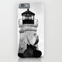 iPhone & iPod Case featuring B&W Lighthouse by Rendog1977
