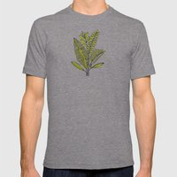 Fern Study Mens Fitted Tee Tri-Grey SMALL