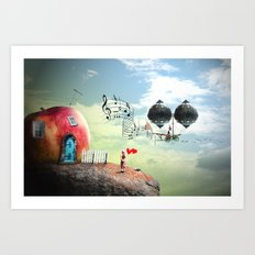 The Music Traveler Art Print