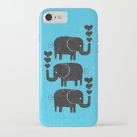 elephants iPhone & iPod Cases featuring ELEPHANTS by Matthew Taylor Wilson