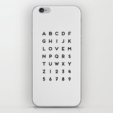 Letter Love - White iPhone & iPod Skin