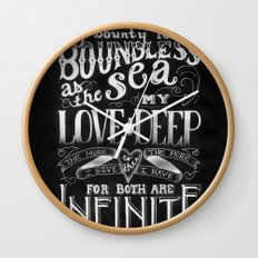 For You, My Love Wall Clock