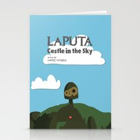 Laputa Castle In The Sky Stationery Cards
