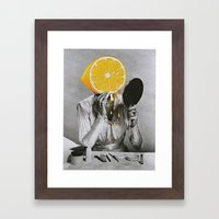 Dont Be A Lemon Framed Art Print
