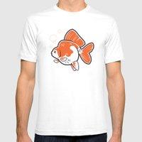 Ryukin Goldfish Mens Fitted Tee White SMALL