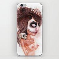 Deathlike Skull Impression iPhone & iPod Skin