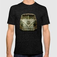 Vintage VW Bus - The Cho… Mens Fitted Tee Tri-Black SMALL