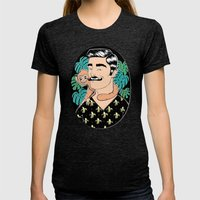 Johnny In The Jungle Womens Fitted Tee Tri-Black SMALL