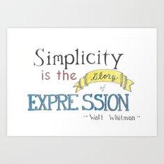 Expression-Whitman Quote Art Print