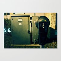 Parking Meter. Pay.  Canvas Print