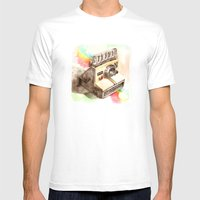 Vintage gadget series: Polaroid SX-70 OneStep camera Mens Fitted Tee White SMALL