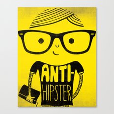 Anti-hipster - yellow Canvas Print