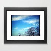 Trees. Framed Art Print