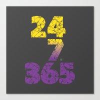 24-7/365 (Purple Hustle) Canvas Print