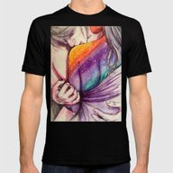 Cosmic Shoulder Kiss Mens Fitted Tee Black SMALL