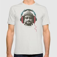Enjoy Music Mens Fitted Tee Silver SMALL