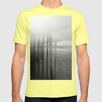 Wander ~ Black and white version Mens Fitted Tee Lemon SMALL
