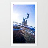Shadows In The Sun Ray. Art Print