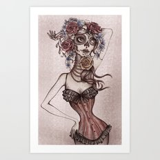 Lovely death Art Print