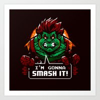 Gonna Smash It! Art Print