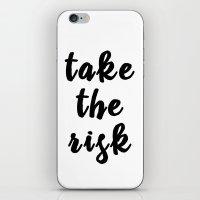 TAKE THE RISK iPhone & iPod Skin
