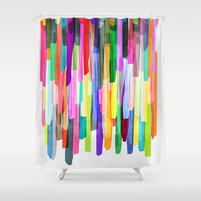Colorful Stripes 4 Shower Curtain By Mareike Bohmer