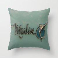 Marlin Throw Pillow